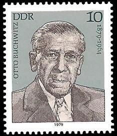 10 Pf Briefmarke: Verdienstvolle Persönlichkeiten der Arbeiterbewegung, Otto Buchwitz