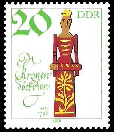 20 Pf Briefmarke: Historische Puppen, Kronendöckchen