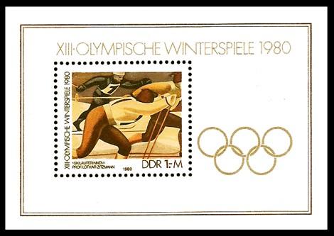 Briefmarke: Block - XIII. Olympische Winterspiele 1980