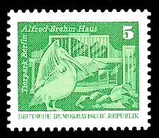 5 Pf Briefmarke: Sozialistischer Aufbau in der DDR, Tierpark Bln