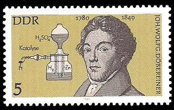 5 Pf Briefmarke: Bedeutende Persönlichkeiten, Joh. Wolfg. Döbereiner