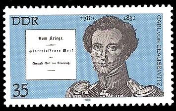 35 Pf Briefmarke: Bedeutende Persönlichkeiten, Carl von Clausewitz
