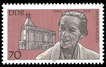 70 Pf Briefmarke: Bedeutende Persönlichkeiten, Helene Weigel