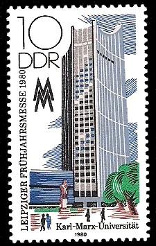 10 Pf Briefmarke: Leipziger Frühjahrsmesse 1980, Karl-Marx-Universität
