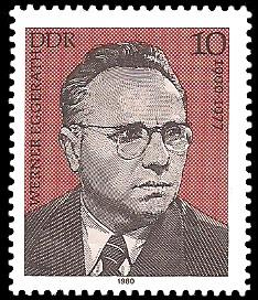 10 Pf Briefmarke: Verdienstvolle Persönlichkeiten der Arbeiterbewegung, Werner Eggerath