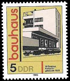 5 Pf Briefmarke: bauhaus, Konsum-Gebäude