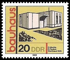 20 Pf Briefmarke: bauhaus, Stahlhaus