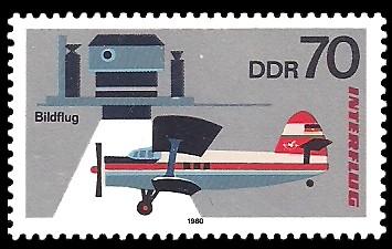 70 Pf Briefmarke: Interflug, Bildflug
