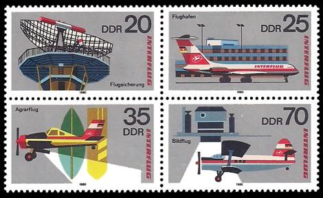Briefmarke: Viererblock - Interflug