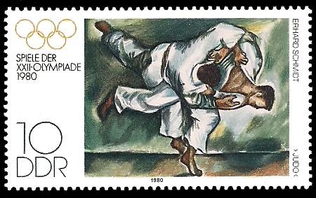 10 Pf Briefmarke: Spiele der XXII.Olympiade 1980, Judo