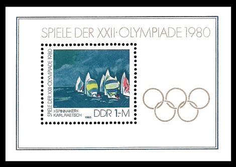 Briefmarke: Block - Spiele der XXII.Olympiade 1980 in Moskau
