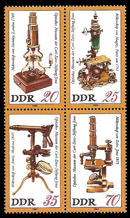 Briefmarke: Viererblock - Optisches Museum der Carl-Zeiss-Stiftung Jena