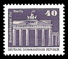40 Pf Briefmarke: Sozialistischer Aufbau in der DDR, Brandenburger Tor