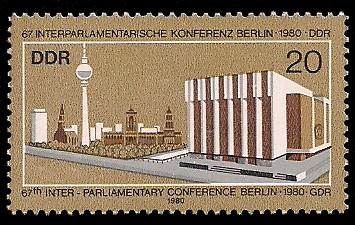 20 Pf Briefmarke: 67. Interparlamentarische Konferenz, Berlin 1980