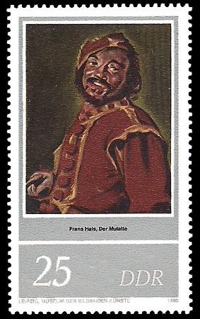 25 Pf Briefmarke: 400. Geburtstag Frans Hals, der Mulatte