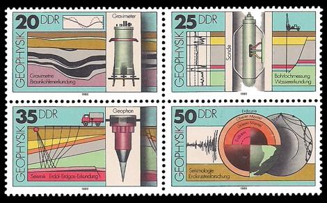 Briefmarke: Viererblock - Geophysik