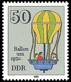 50 Pf Briefmarke: Historisches Spielzeug, Ballon