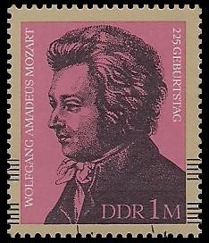 1 M Briefmarke: 225. Geburtstag Wolfgang Amadeus Mozart