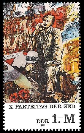 1 M Briefmarke: X. Parteitag der SED, Wenn Kommunisten träumen