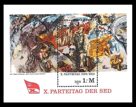 Briefmarke: Block - X. Parteitag der SED