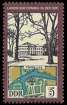 5 Pf Briefmarke: Landschaftsparks in der DDR, Wörlitz