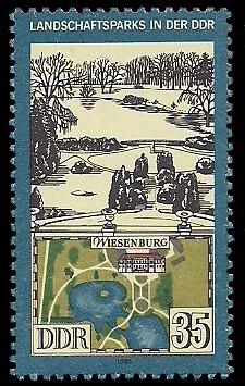 35 Pf Briefmarke: Landschaftsparks in der DDR, Wiesenburg
