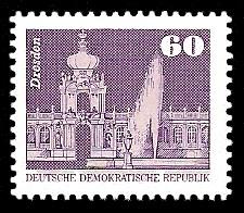 60 Pf Briefmarke: Sozialistischer Aufbau in der DDR, Dresden