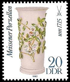 20 Pf Briefmarke: Meissener Porzellan, Bechervase