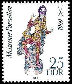 25 Pf Briefmarke: Meissener Porzellan, Oberon