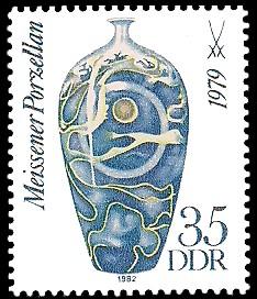 35 Pf Briefmarke: Meissener Porzellan, Vase