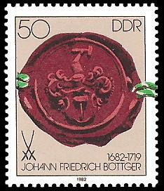 50 Pf Briefmarke: 300. Geburtstag Johann Friedrich Böttger