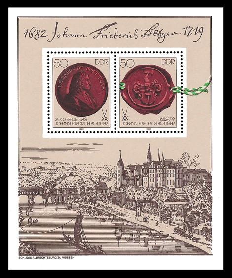 Briefmarke: Block - 300. Geburtstag Johann Friedrich Böttger