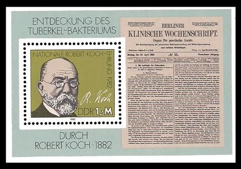 Briefmarke: Block - Nationale Robert-Koch-Ehrung 1982