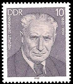 10 Pf Briefmarke: Verdienstvolle Persönlichkeiten der Arbeiterbewegung, Helmut Lehmann