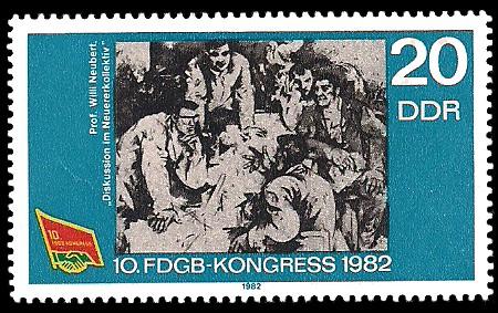 20 Pf Briefmarke: 10. FDGB - Kongress
