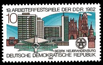 10 Pf Briefmarke: 19. Arbeiterfestspiele der DDR, Bauten