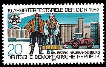 20 Pf Briefmarke: 19. Arbeiterfestspiele der DDR, Paar in Tracht