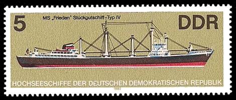 5 Pf Briefmarke: Hochseeschiffe, MS Frieden