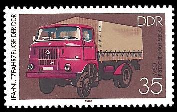 35 Pf Briefmarke: IFA-Nutzfahrzeuge der DDR, W50 Pritschenfahrzeug