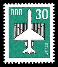 30 Pf Briefmarke: Luftpost