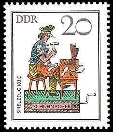 20 Pf Briefmarke: Historisches Spielzeug - Berufe, Schuhmacher