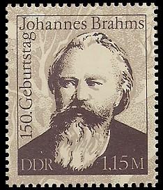 1,15 M Briefmarke: 150. Geburtstag Johannes Brahms