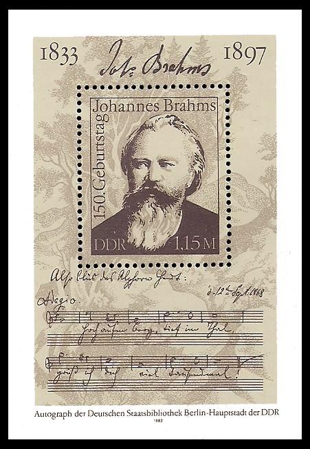 Briefmarke: Block - 150. Geburtstag Johannes Brahms