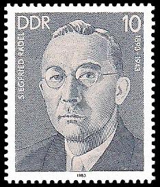 10 Pf Briefmarke: Verdienstvolle Persönlichkeiten der Arbeiterbewegung, Siegfried Rädel