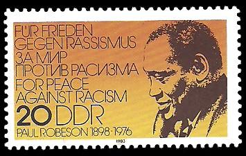 20 Pf Briefmarke: Paul Robeson