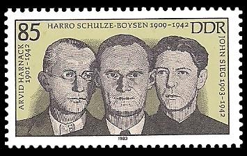 85 Pf Briefmarke: Schulze-Boysen-Harnack Widerstandsorganisation
