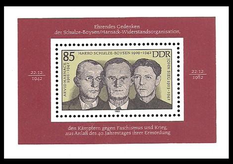 Briefmarke: Block - Schulze-Boysen-Harnack Widerstandsorganisation