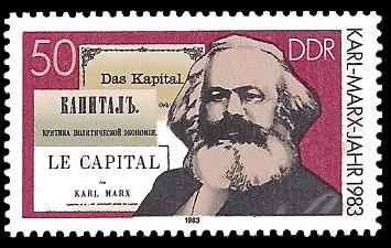 50 Pf Briefmarke: Karl-Marx-Jahr 1983, Das Kapital