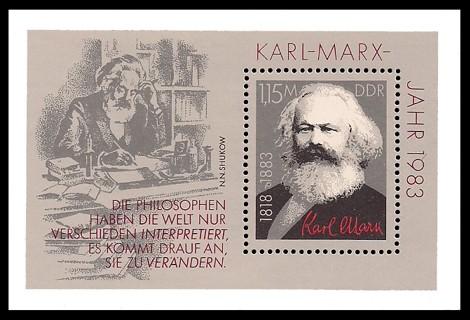 Briefmarke: Block - Karl-Marx-Jahr 1983