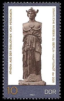 10 Pf Briefmarke: Staatlichen Museen zu Berlin, Athena-Statue